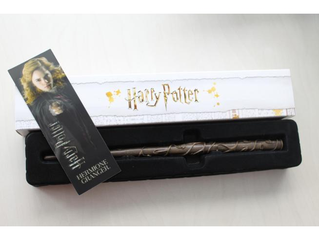 Bacchetta magica Harry Potter Hermione Granger + segnalibro 3D Noble Collection