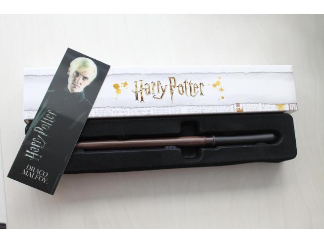 Bacchetta magica Harry Potter - Draco Malfoy con segnalibro 3D Noble Collection