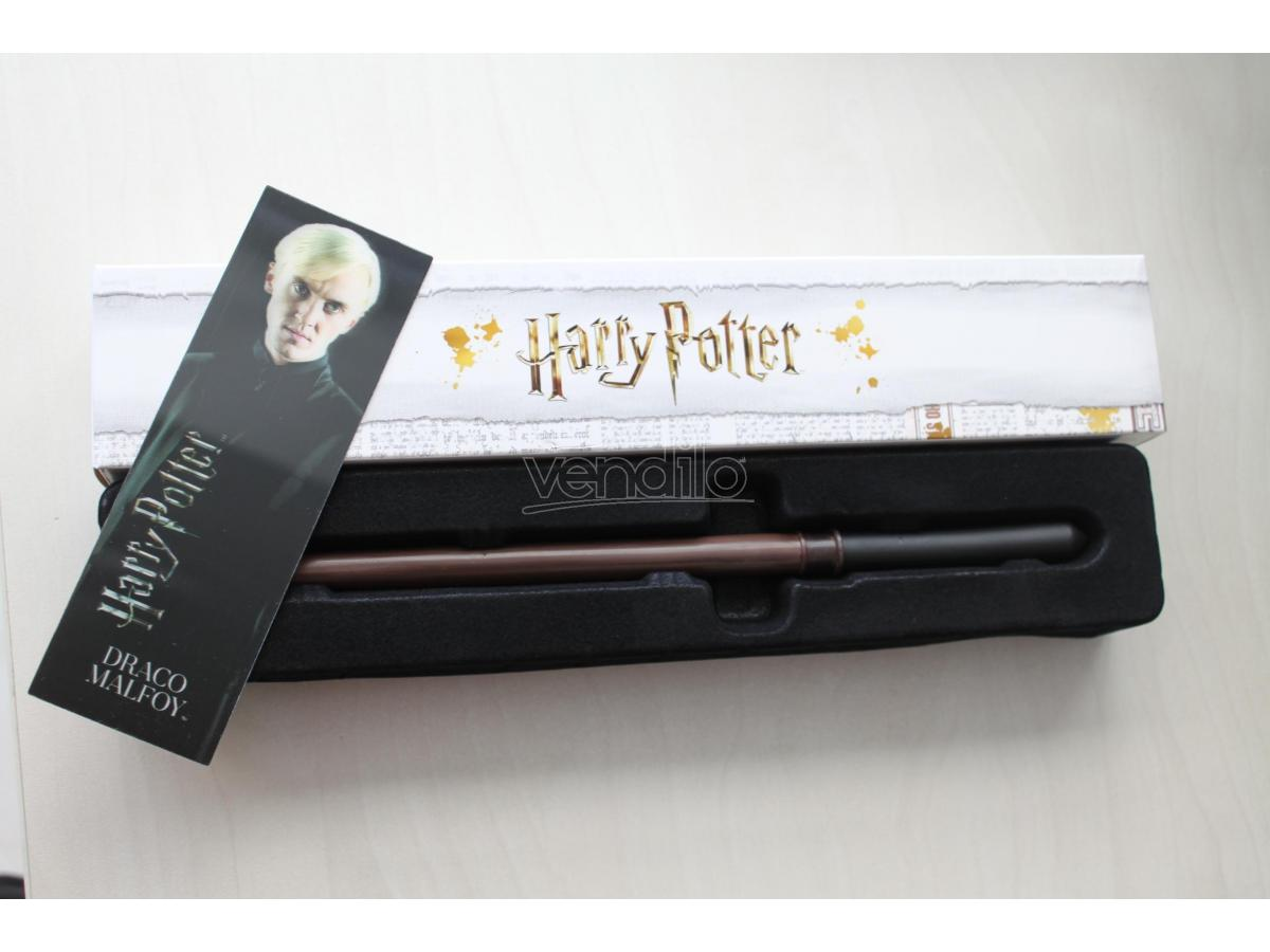 Harry Potter Bacchetta Magica - Draco Malfoy Con Segnalibro 3d Noble Collection