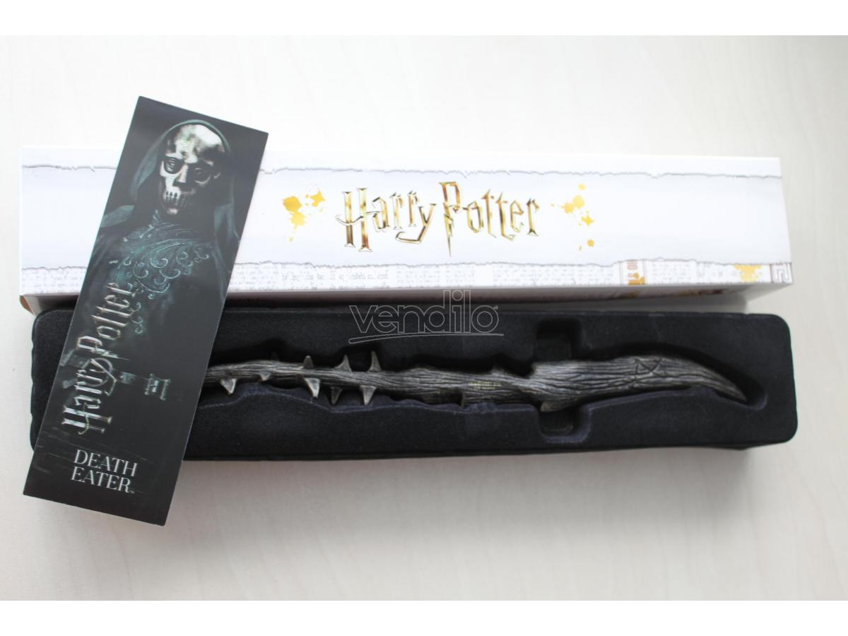 Bacchetta magica Harry Potter - Mangiamorte con segnalibro 3D Noble Collection