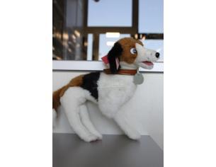 Disney La Carica dei 101 - Peluche cane bianco nero e marrone in piedi 23 cm