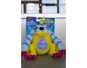 Digimon - Peluche Digimon blu con ventose nelle zampe superiori 20cm