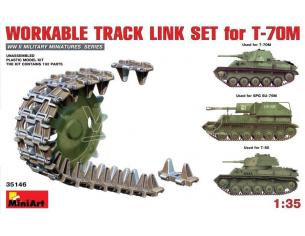 Miniart MIN35146 WORKABLE TRACK LINK SET FOR T-70M LIGHT TANK KIT 1:35 Modellino