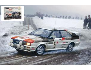Italeri IT3642 AUDI QUATTRO RALLY MONTE CARLO 1981 KIT 1:24 Modellino
