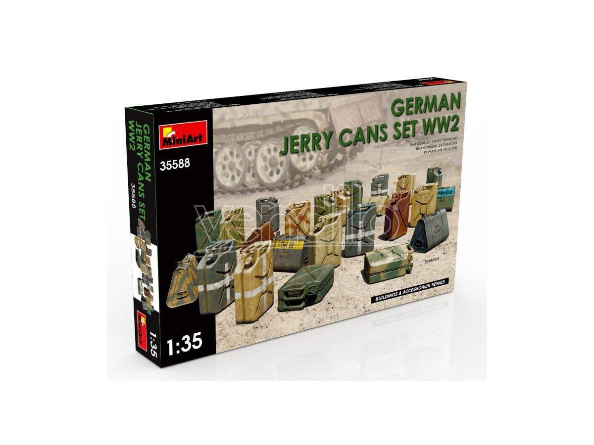 Miniart MIN35588 GERMAN JERRY CANS SET WWII KIT 1:35 Modellino