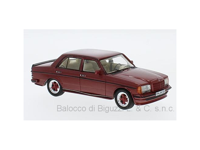 Neo Scale Models NEO45538 MERCEDES W123 AMG 1980 DARK RED 1:43 Modellino