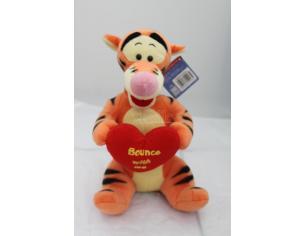 Disney Winnie The Pooh - Tigro seduto con cuore Peluche 30cm