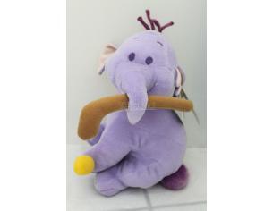 Disney Winnie The Pooh - Peluche Elefante seduto con bastone e palla 30cm