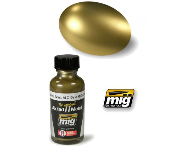 AMMO BY MIG JIMENEZ ALCLAD II METAL POLISHED BRASS 8206 COLORI