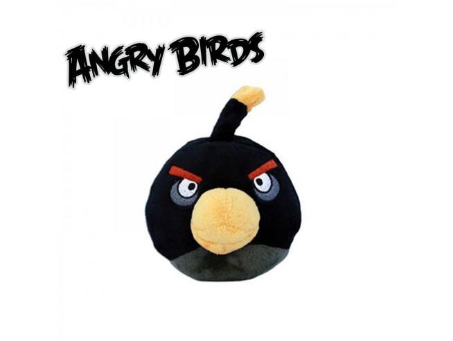 Angry Birds - Peluche Angry Birds nero 10cm