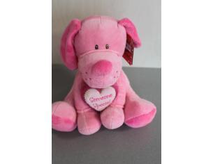 Plush Company 10107 - Romeo Cagnolino rosa con cuore 20cm Peluche
