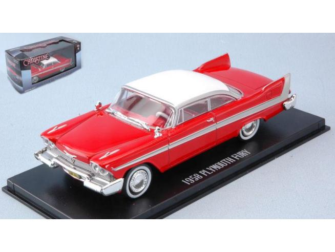 Greenlight GREEN86529 PLYMOUTH FURY 1958 CHRISTINE RED WHITE 1:43 Modellino