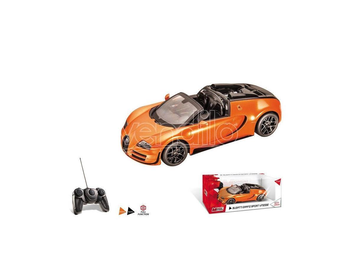 Mondo Motors MM63262OR BUGATTI GRAN SPORT VITESSE ORANGE RADIOCOMANDO 1:14 Modellino