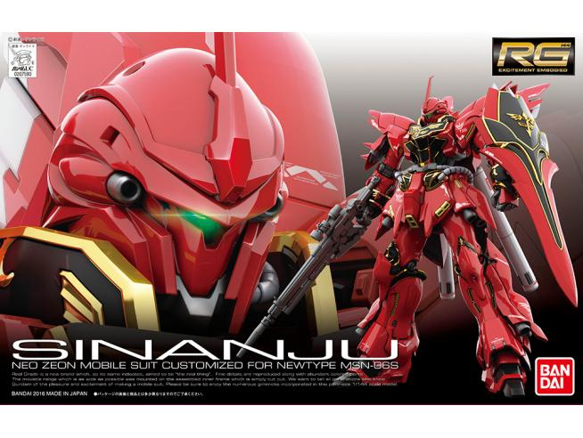BANDAI MODEL KIT RG SINANJU MSN-06S 1/144 MODEL KIT