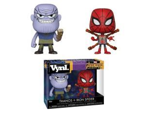 Funko Avengers Infinity War Pop Marvel Vinile Figura Thanos & Iron Spider 10 Cm