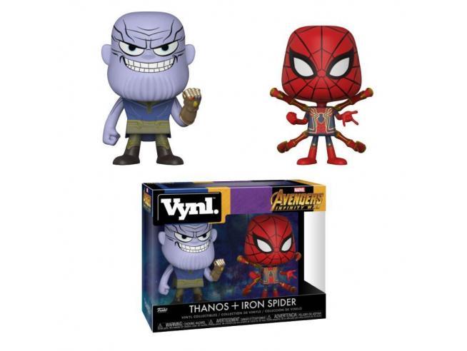 Funko Avengers Infinity War POP Marvel Vinile Figure Thanos & Iron Spider 10 cm