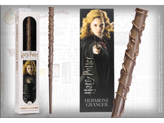 Harry Potter Bacchetta Magica Hermione 30 Cm Con Segnalibro Noble Collection
