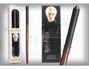 Harry Potter Bacchetta Magica PVC Draco Malfoy 30 cm con Segnalibro Noble Collection