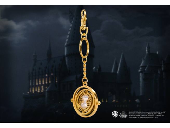 Portachiavi Harry Potter Giratempo 4 cm in metallo Noble Collection