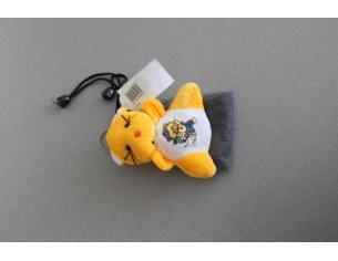 Portacellulare con gattino arancione peluche e orsetto disegnato