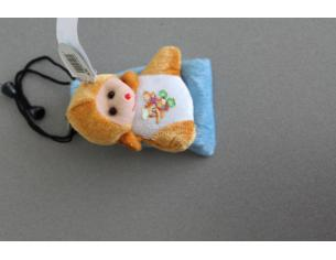 Portacellulare con orsetto marrone peluche e elefante disegnato