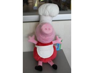 Peppa Pig - Peluche Peppa Pig Vestita da Cuoco 25 cm