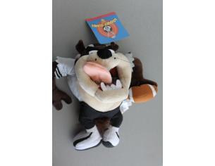DISNEY - Peluche Looney Tunes Taz vestito da giocatore di rugby 25cm