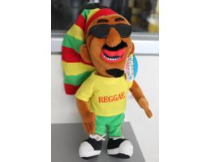 Peluche Rasta Boy Uomo con cappello e occhiali da sole 34 cm