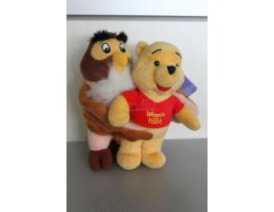 Disney Winnie The Pooh - Peluche Gufo Uffa e Winnie The Pooh 18cm