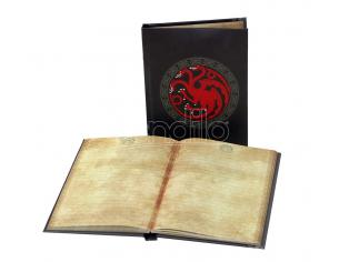 SD TOYS GAME OF THRONES TARGARYEN NOTEBOOK W/ LT TACCUINO