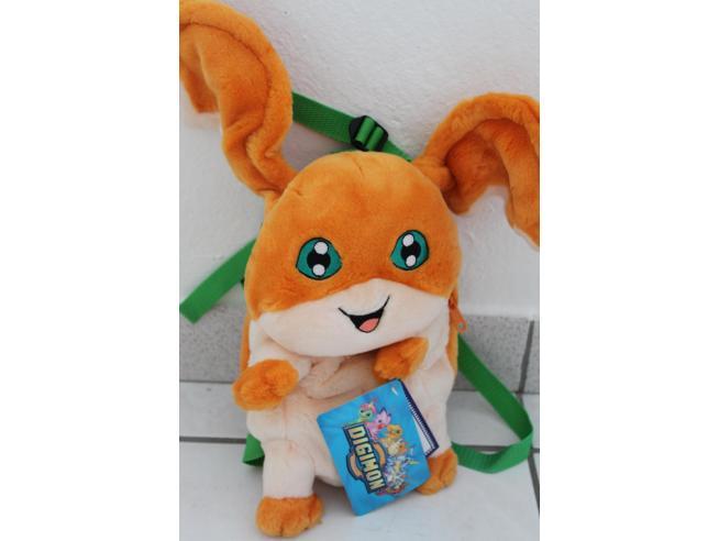 JEMINI - Zainetto Sacca peluche Digimon - Patamon arancione