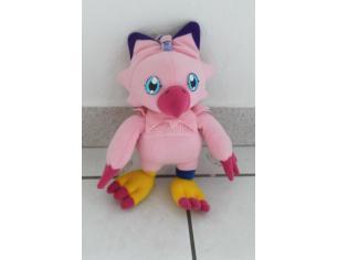 JEMINI -  Peluche Digimon - Biyomon rosa con ventose 27cm