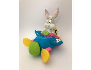 JEMINI - Peluche Bugs Bunny su macchina volante morbida con sonagli 24cm