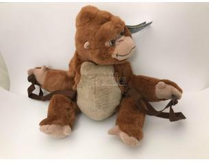 JEMINI - Zainetto Sacca peluche Tarzan - Scimmia marrone