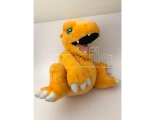 DISNEY - Peluche Digimon Agumom con cerniera apribile nella schiena 35cm