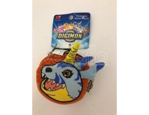 JEMINI - Portafoglio Peluche Digimon Gabumon arancione e azzurro 9cm