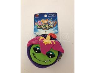 JEMINI - Portafoglio Peluche Digimon Palmon viola e verde 9cm