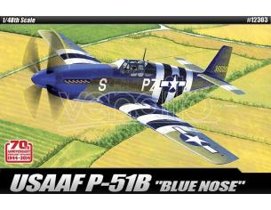 Accademy ACD12303 USAAF P-51B BLUE NOSE KIT 1:48 Modellino