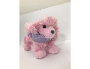 Peluche cane rosa con vestito viola 30 cm Playtime