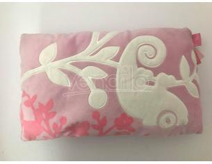 Trudi 41130 – Cuscino rettangolare rosa e bianco 38x25cm
