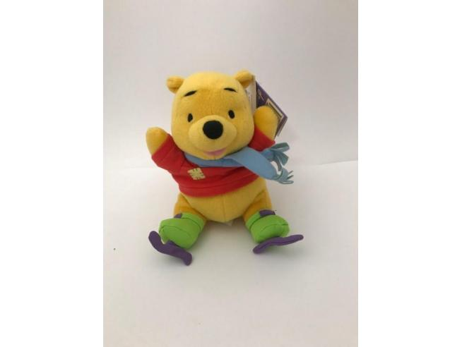 Peluche Winnie The Pooh pattinatore 15 cm Fisher Price