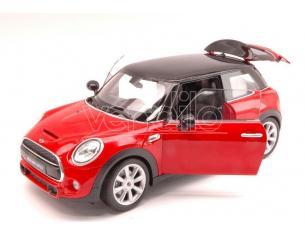 Welly WE8050R NEW MINI HATCH 2014 RED W/BLACK ROOF 1:18 Modellino