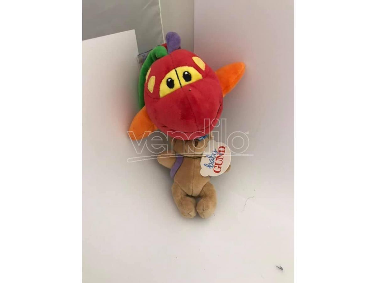 BABY GUND 5779 - Peluche carillon aereo rosso morbido con orsetto 25cm circa