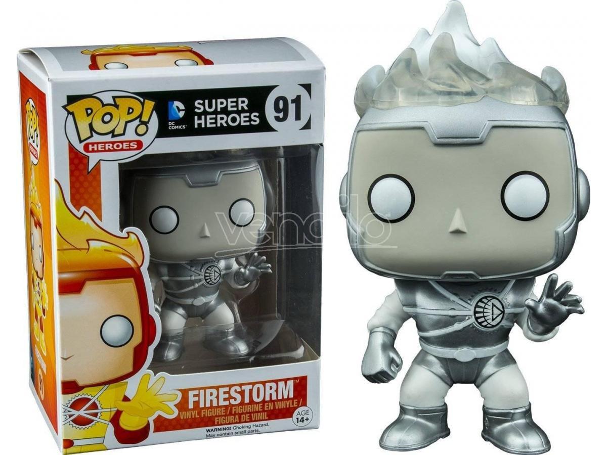 Funko Super Heroes POP DC Comics Firestorm Lanterna Bianca 9 cm scatola rovinata