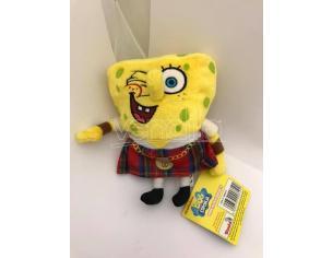 Nickelodeon - Spongebob vestito da Scozzese Peluche 16cm circa