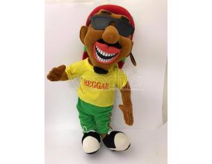Peluche Rasta Boy Uomo con cappello e occhiali da sole 60 cm