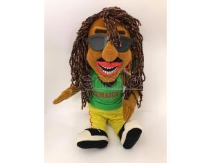 Peluche Rasta Boy Uomo con capelli rasta e occhiali da sole 60cm