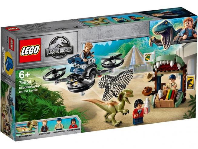 LEGO JURASSIC WORLD 75934 - DILOFOSAURO IN FUGA