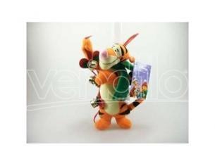 Peluche Tigro con campanelli natalizi 18 cm Disney Winnie The Pooh