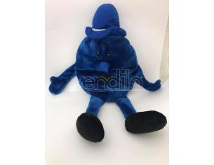 Peluche Faccina blu gigante con apertura nella schiena 40cm